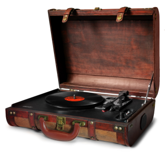 Camry vintage portable turntable in a suitcase