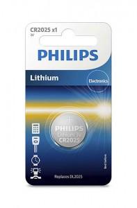 PHILIPS battery CR2025, 3V