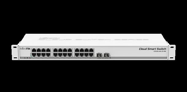 Mikrotik NET ROUTER/SWITCH 24PORT CRS326-24G-2S+RM