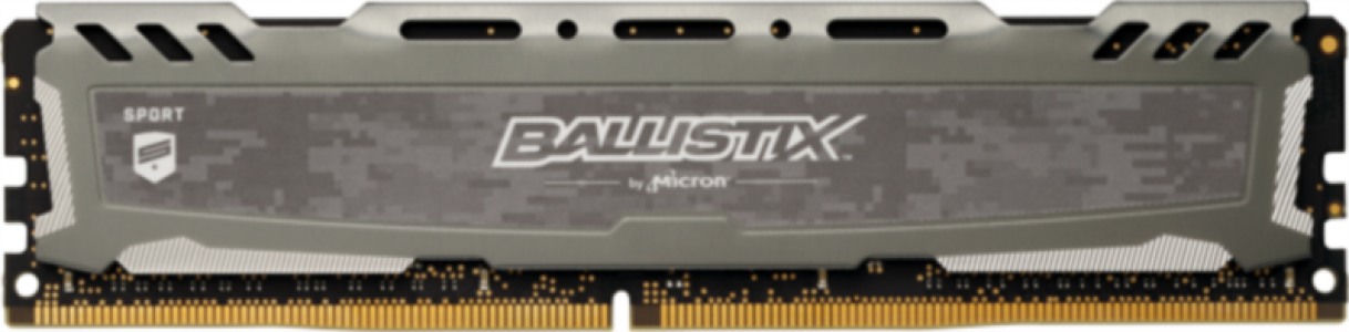 Crucial Ballistix Sport LT Gray 4GB DDR4-2666 UDIMM PC4-21300 CL16, 1.2V
