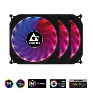 Chieftec TORNADO set RGB ventilatorjev (3x120mm)