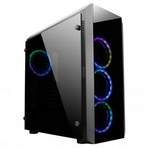Chieftec SCORPION II USB3.1 ATX RAINBOW RGB ohišje, črno