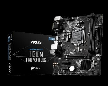MSI H310M PRO-VDH PLUS, DDR4, SATA3, HDMI, USB3.1Gen1, LGA1151 mATX