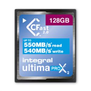 INTEGRAL 128GB ULTIMAPRO X2 CFAST 2.0