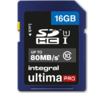 INTEGRAL 16GB SDHC UltimaPro CLASS10 80MB UHS-I U1 spominska kartica