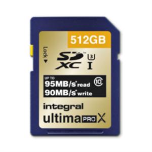 INTEGRAL 512GB SDXC UltimaPro X CLASS10 UHS-I U3 95MB spominska kartica
