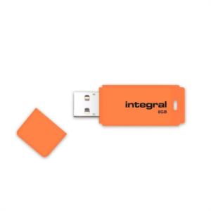 INTEGRAL NEON 8GB USB2.0 oranžen spominski ključek
