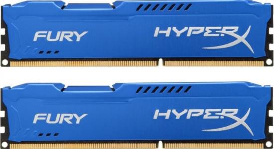 KINGSTON HyperX Fury 8GB (2x 4GB) DDR3 1600 CL10 blue