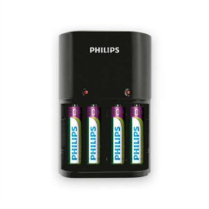 PHILIPS MULTILIFE BATTERY CHARGER + 4X AAA BATTERIES