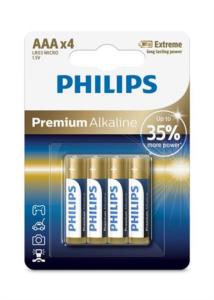 PHILIPS BATTERY AAA - PREMIUM ALKALINE BLISTER 4 PCS (LR3)