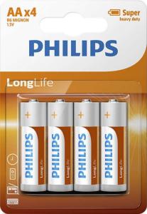 PHILIPS BATTERY - AA LONGLIFE BLISTER 4 PCS (R06)