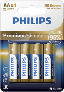 PHILIPS BATTERY AA - PREMIUM ALKALINE BLISTER 4 PCS (LR6)