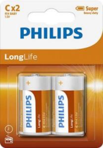 PHILIPS BATTERY C - LONGLIFE BLISTER 2 PCS (R14)