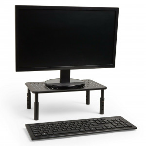 VonHaus adjustable metal monitor stand