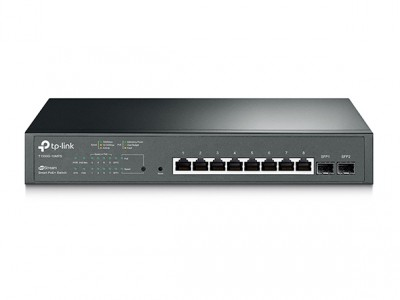 TP-Link JetStream 8-Port Gigabit Smart PoE+ Stikalo, 2 × SFP
