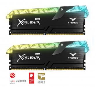 Teamgroup XCALIBUR 16GB Kit (2x8GB) DDR4-3600 DIMM PC4-28800 CL18, 1.35V - Tatoo edition