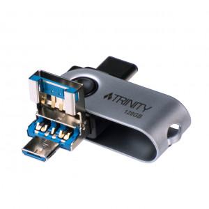 Patriot 128GB 200/100 MB/s Trinity 3-V-1 USB 3.1 spominski ključek