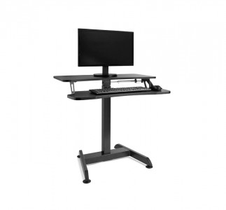VonHaus Sit & Stand adjustable table black