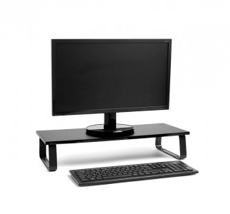 VonHaus wooden monitor stand black