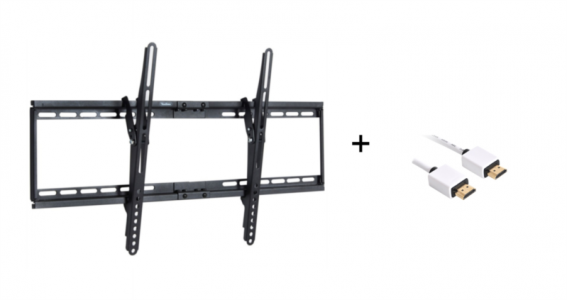 VonHaus 32-65'' nagibni TV stenski nosilec do 75kg + HDMI kabel 1.0m