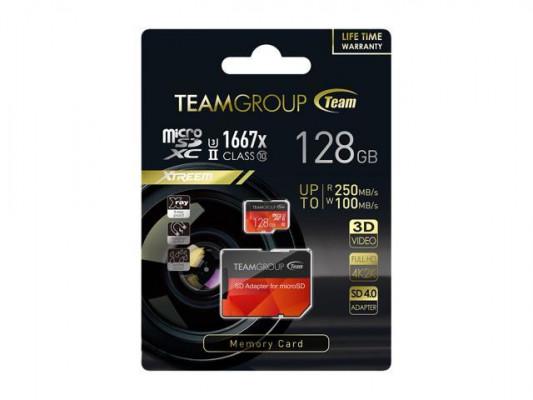 Teamgroup Color Xtreem 128GB SD UHS-II U3 250MB / s memory card