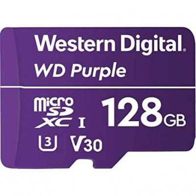 WD 128GB Purple microSD card