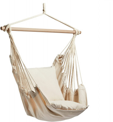 VonHaus hanging garden chair beige