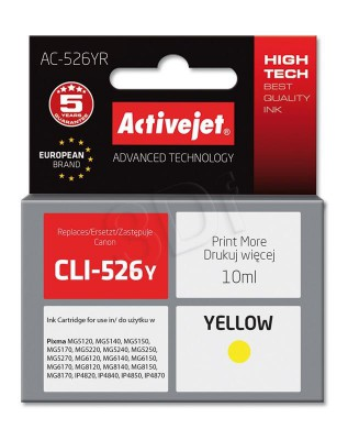 ActiveJet yellow ink Canon CLI-526Y