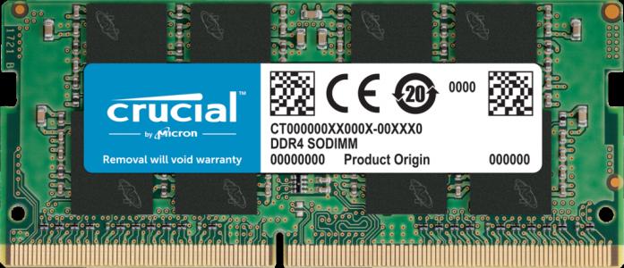 Crucial 16GB DDR4-3200 SODIMM PC4-25600 CL22, 1.2V