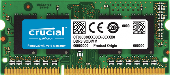 Presudni 4GB DDR3L-1600 SODIMM PC3-12800 CL11, 1,35 V / 1,5 V