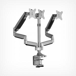 VonHaus trostruki stolni nosač do dijagonale 32 '', 2 x USB 3.0, plinska opruga