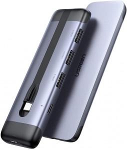 UGREEN USB-C Hub 5v1 4K HMI, 2x USB 3.0, USB-C PD 3.0, RJ45