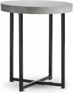 VonHaus bočni stol s imitacijom betona 48 x 48 x 56cm
