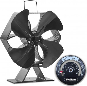 VonHaus kamin ventilator XL crni aluminij