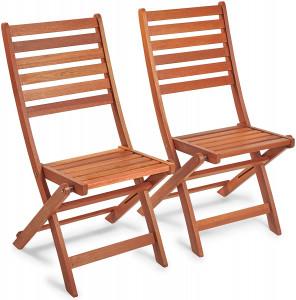VonHaus set sklopivih stolica