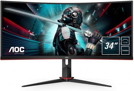 AOC CU34G2 34'' Ultra Wide ukrivljen gaming monitor