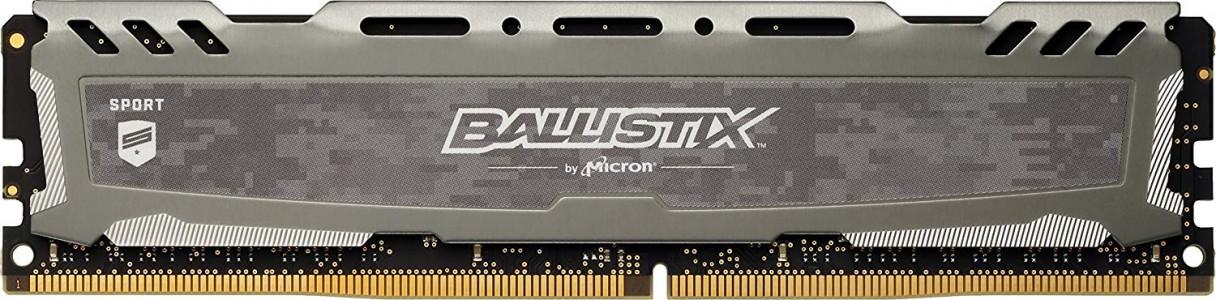 Presudni Ballistix Sport LT Grey 8GB DDR4-2400 UDIMM PC4-19200 CL16, 1.2V