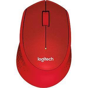 Logitech M330 Silent Plus bežični miš, crveni