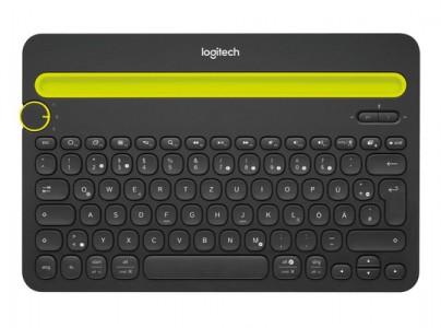 Tipkovnica Logitech Cordless K480 Bežični Bluetooth SLO gravura crna (smartphone, stol)