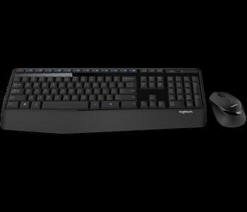 Tipkovnica + miš Logitech Wireless Desktop MK345 Combo, SLO graviranje