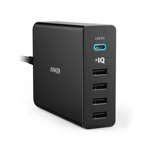 Anker PowerPort + 5 60W 4-port + USB-C punjač