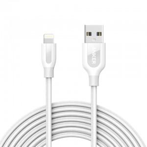 Anker PowerLine + Lightning kabel 3m bijeli