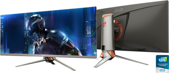 ASUS PG348Q 34 '' ROG SWIFT gaming IPS zakrivljeni monitor, 3440 x 1440, 5ms, 50 / 100Hz, DisplayPort, USB3.0