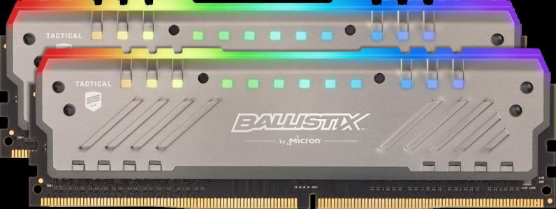 Presudni Ballistix taktički Tracer RGB 16GB kit (2x8GB) DDR4-3200 UDIMM PC4-25600 CL16, 1.35V