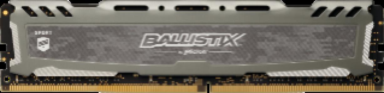 Presudni Ballistix Sport LT Grey 8GB DDR4-2666 UDIMM PC4-21300 CL16, 1.2V