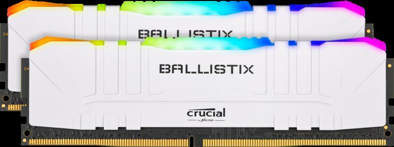 Ključni Ballistix RGB bijeli 32GB kit (2x16GB) DDR4-3600 UDIMM PC4-28800 CL16, 1.35V