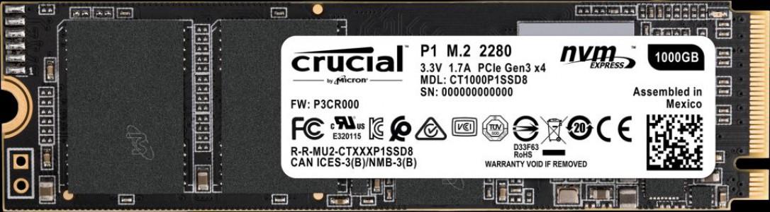 Bitno P1 1TB 3D NAND NVMe PCIe M.2 SSD 2280
