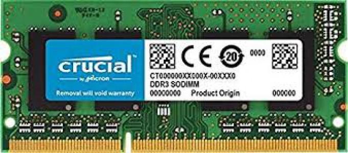CRUCIAL 8GB DDR3L 1866 PC3-14900 CL13 1,35V SODIMM za prijenosna računala