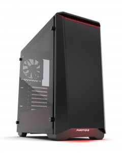 PHANTEX ECLIPSE P400 kaljeno staklo USB3 ATX crno / crveno kućište