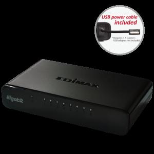 Edimax ES-5800G V3 8 Gigabitni prekidač Edimax ES-5800G V3 8 portova Gigabitni preklopnik